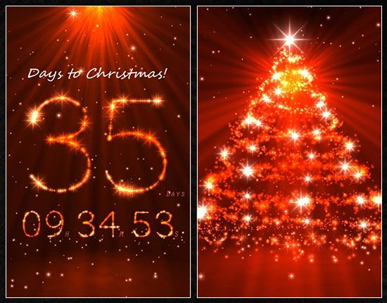 Top 25 Christmas Apps For Android U2013 Top Apps Christmas Countdown Wallpaper Live Christmas Countdown Christmas Countdown