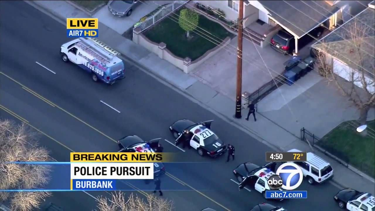 Southern California Police Chase Solar Energy Van Dui Driver Solar Energy Police Street Fights