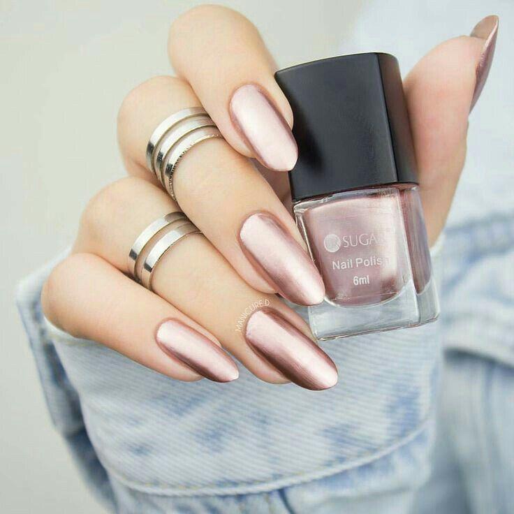 Bronce rosa | Uñas bonitas y decoradas | Pinterest | Bronce, Diseños ...