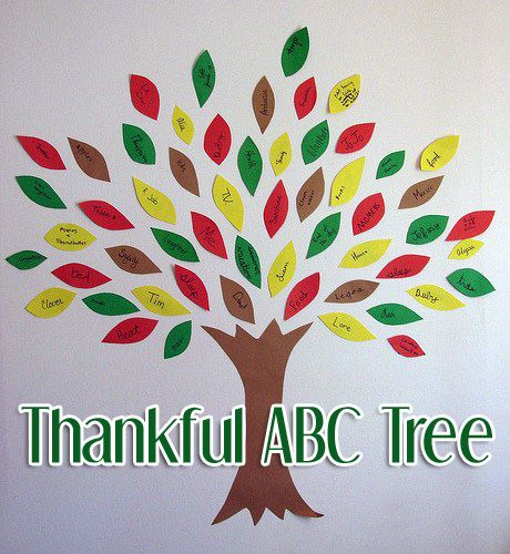 The thankful abc tree craft is a fun activity that can for Thankful tree craft for kids