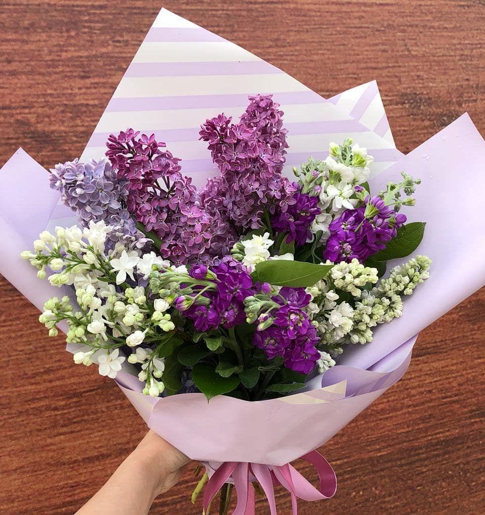 Подарочный букет из сирени купить спб, цветы