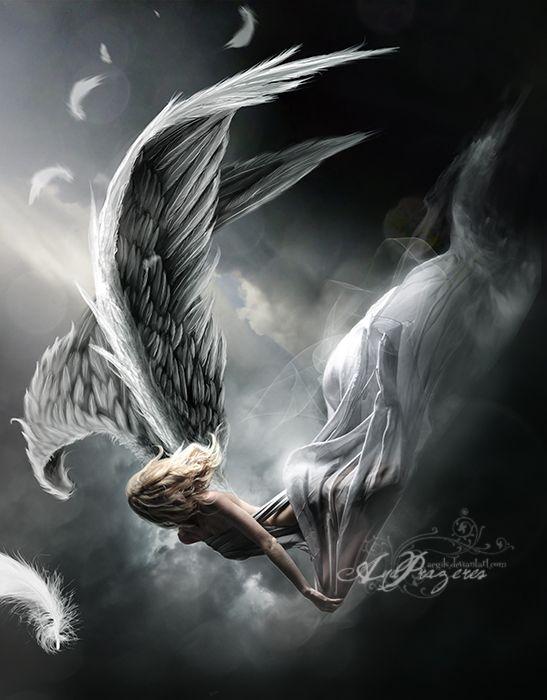 центре картинки ангелы упали с небес верхнее облачение монаха