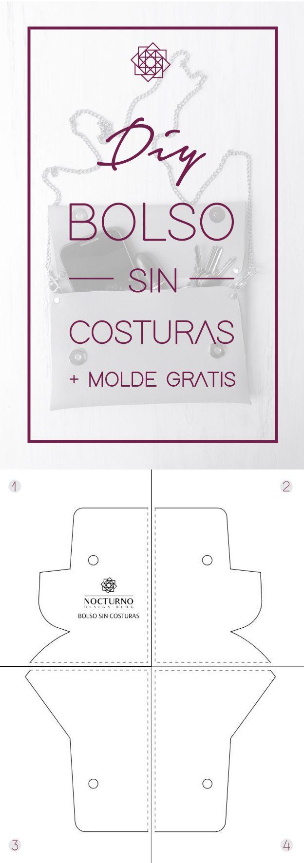 DIY: Bolso sin costuras + molde gratis.