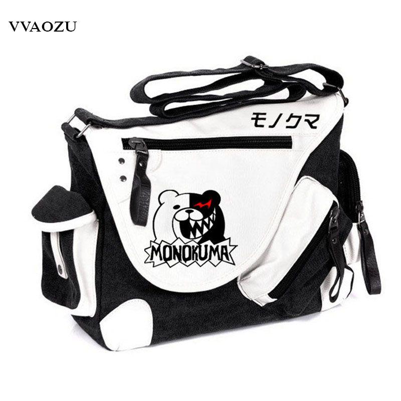 b8b97f46ca70 Brand Designer Danganronpa Monokuma Messenger Bags Crossbody ...