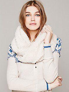 Faux Fur Loop Scarf in scarves-3