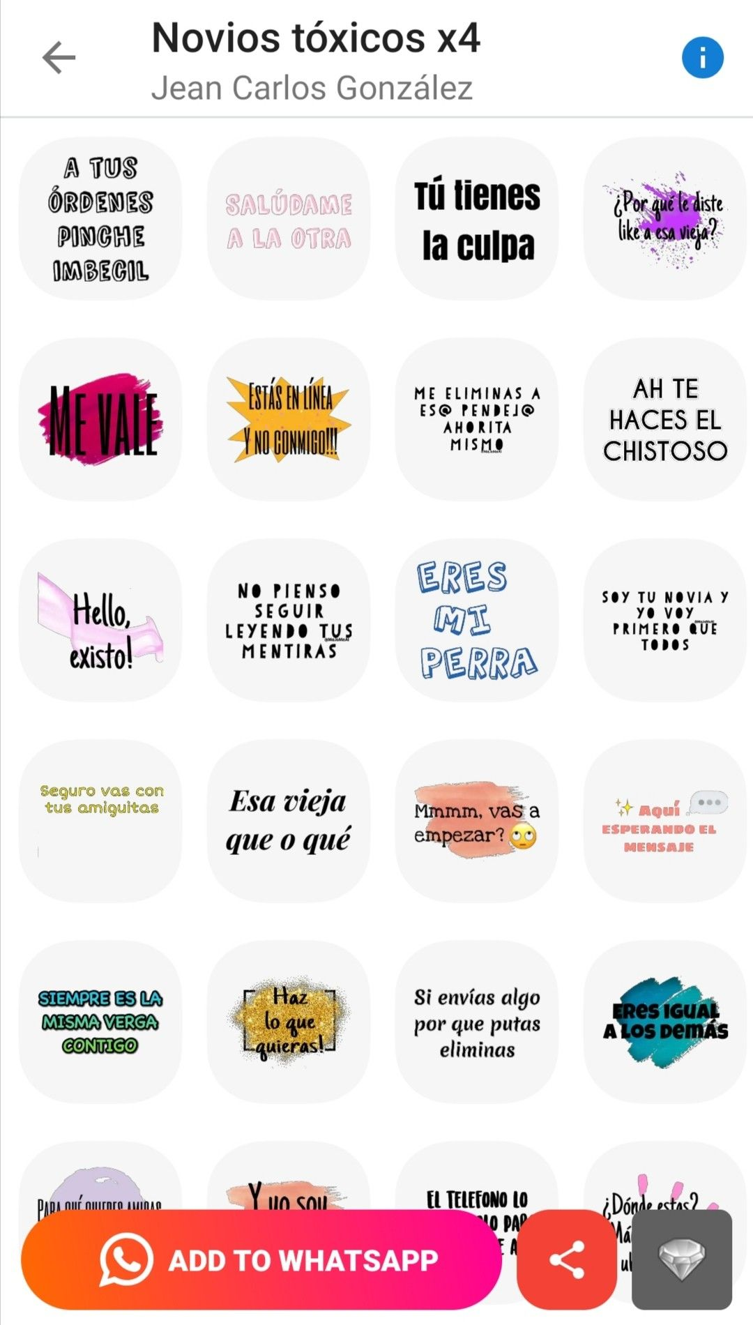 Stickers De Novios Toxicos Chiste De Novios Frases Bonitas Para Novios Novios