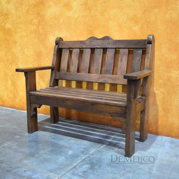 Our Banco del Parque is a Spanish wooden bench that features a ...