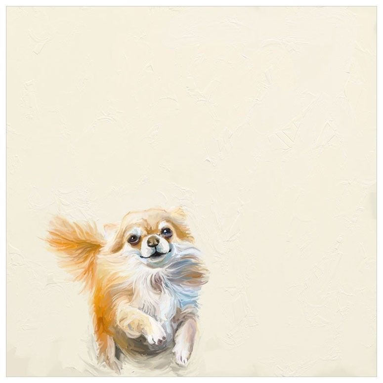 Best Friend Pomeranian Wall Art Dog Art Cat Art Watercolor Dog