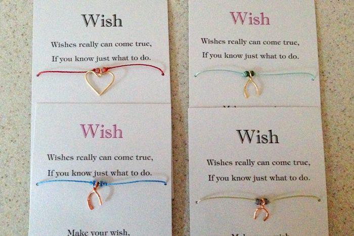 Choice Of Coloured Cord Mummy /& Me Two Bracelets On Card Wish Bracelets