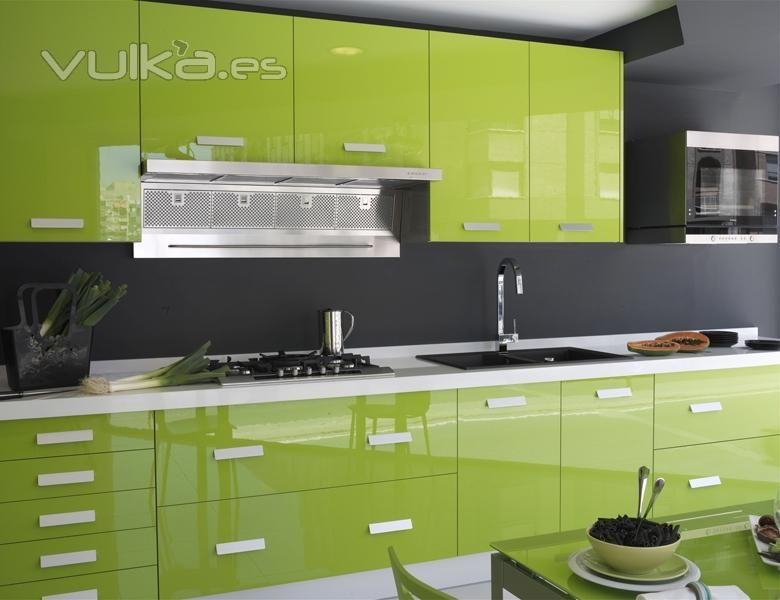 Cocina Verde | Verdes | Pinterest | Cocina verde, Cocinas integrales ...