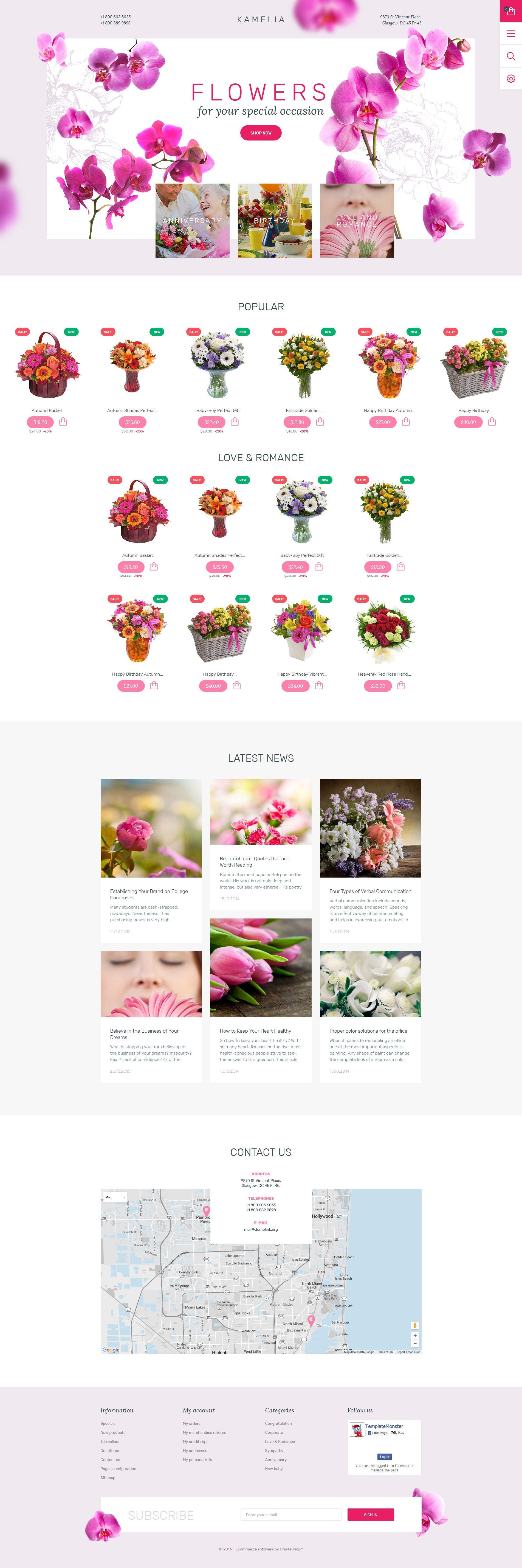 Flowers Theme in 2020 Fun website design