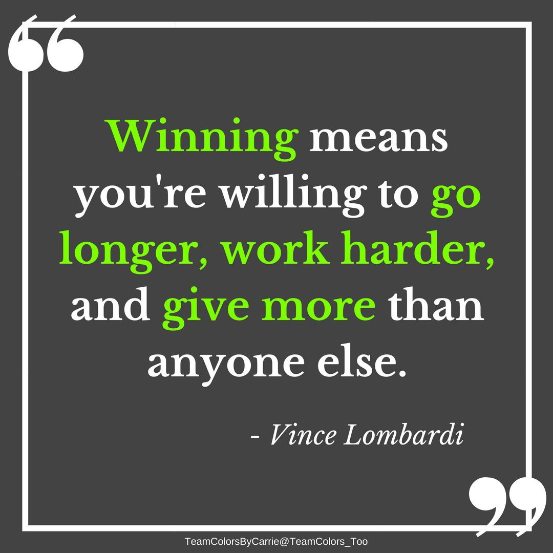 Winning doesn't come easy, but the work will be worth it. #football #quote