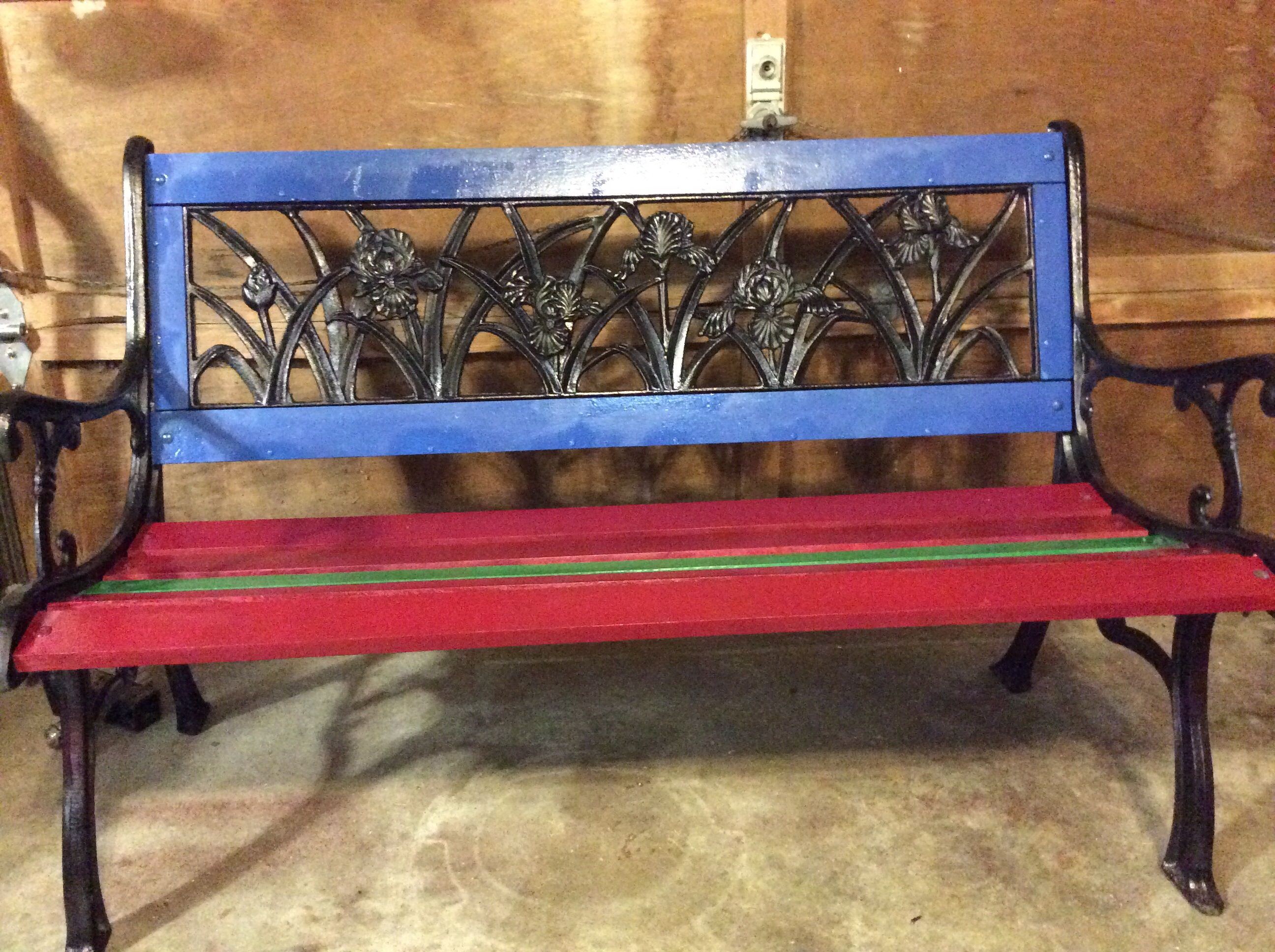 This Is The Bench I Made From An Old Metal