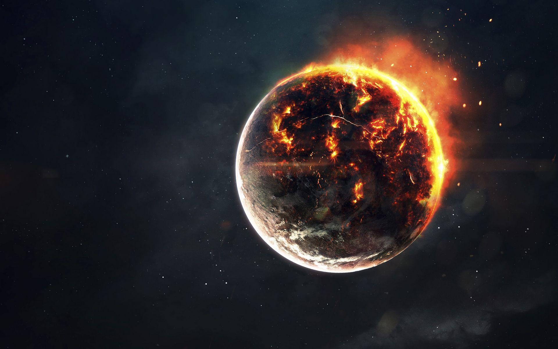 Fire In Space HD Wallpaper