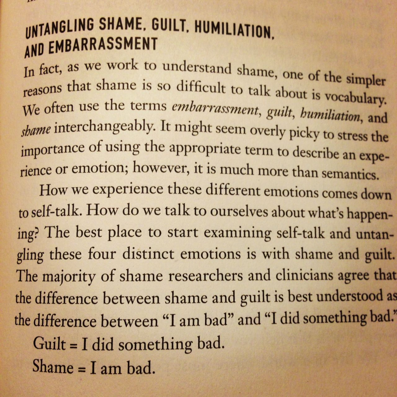 Great Read Untangling Shame Guilt Humiliation And