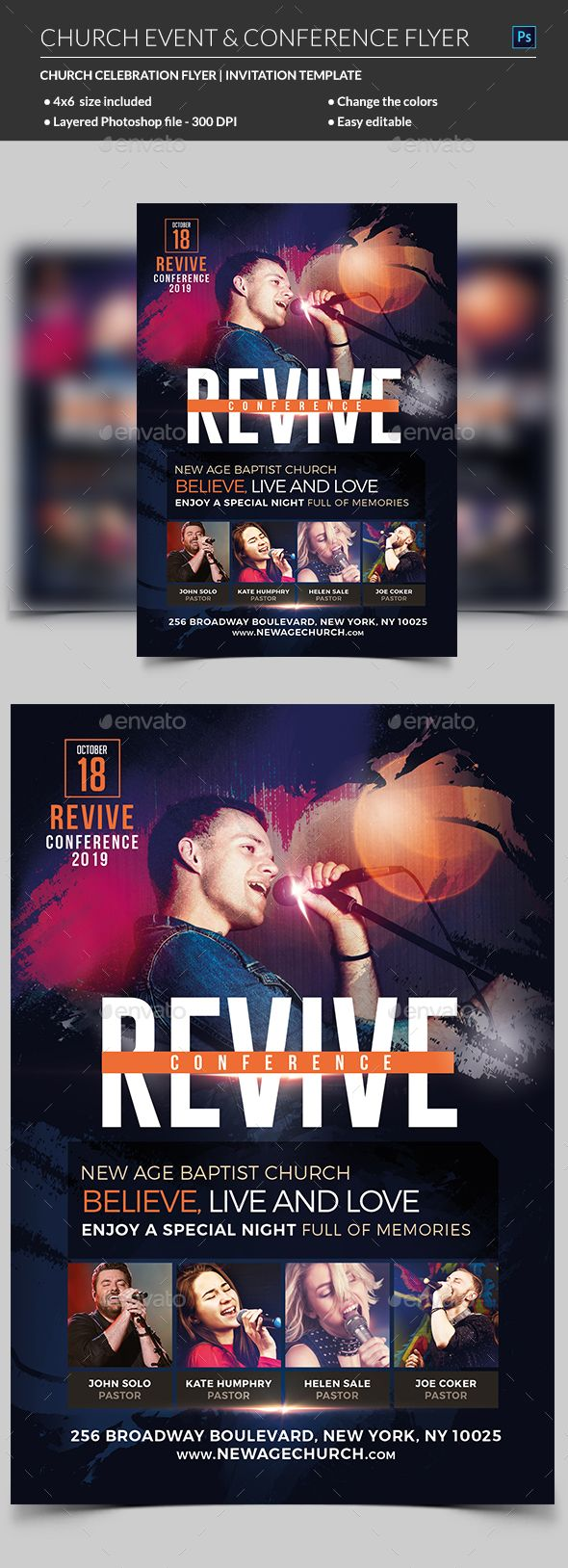 church event or conference flyer template church flyers