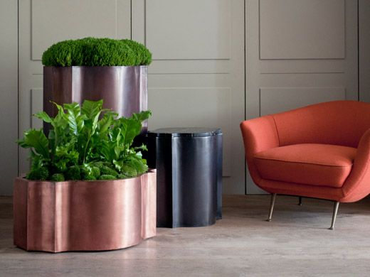 Copper Pots And Zinc Planters From Bronzino.co.uk