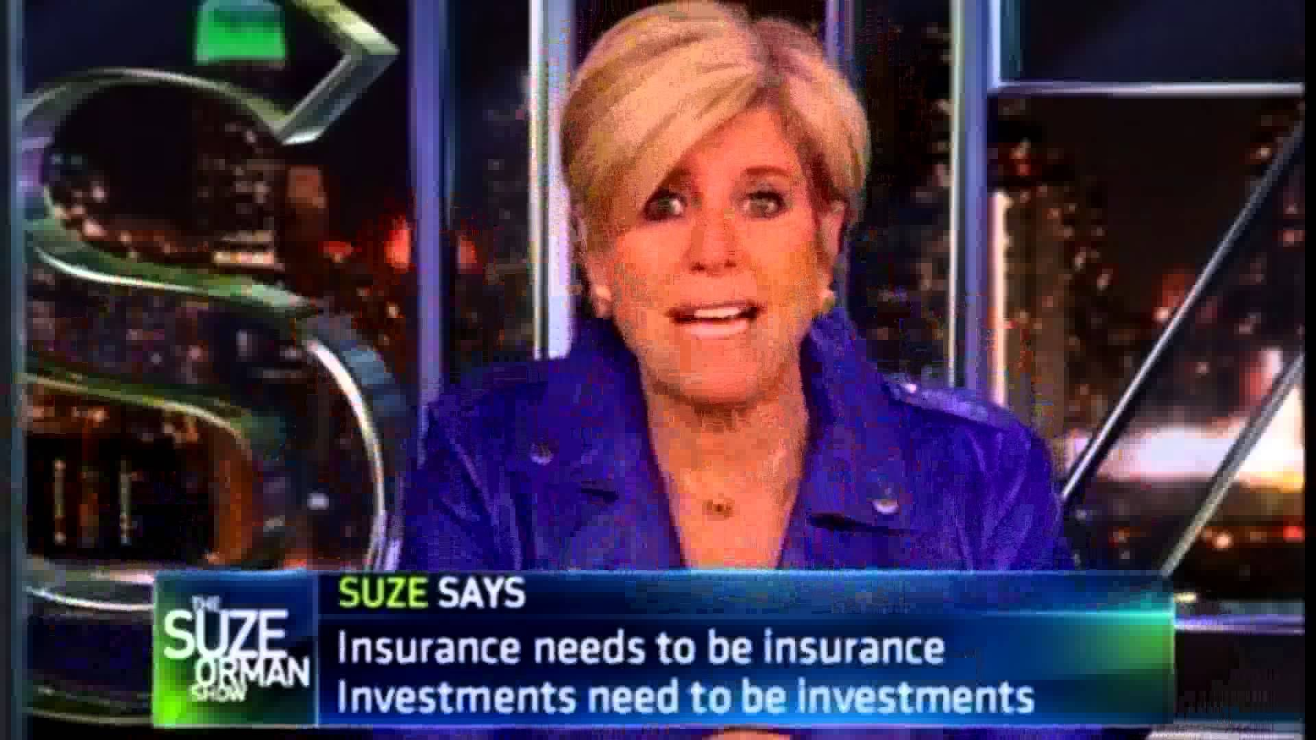 Suze Orman on Universal Insurance worlwide marketing ...