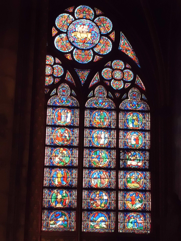 Notre Dam, stained glass windows, Paris