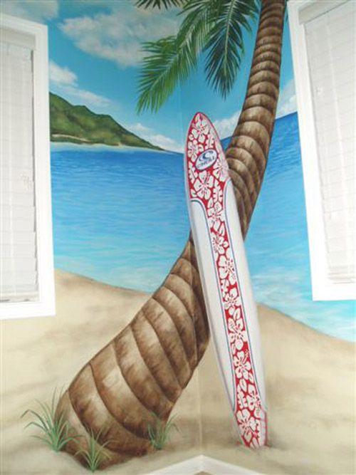 Beach decor beach themed wall murals for kids room decor - Wall mural ideas for bedroom ...