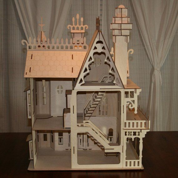Large Victorian Dollhouse Kit #victoriandollhouse