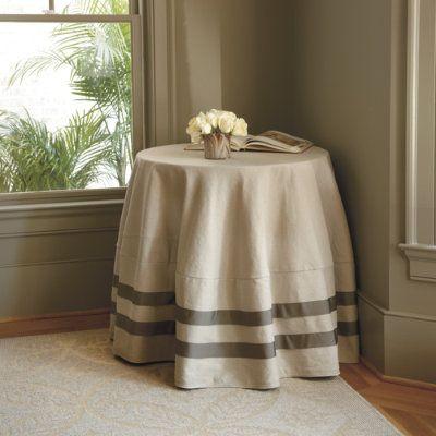 Ribbon round tablecloth ballard designs