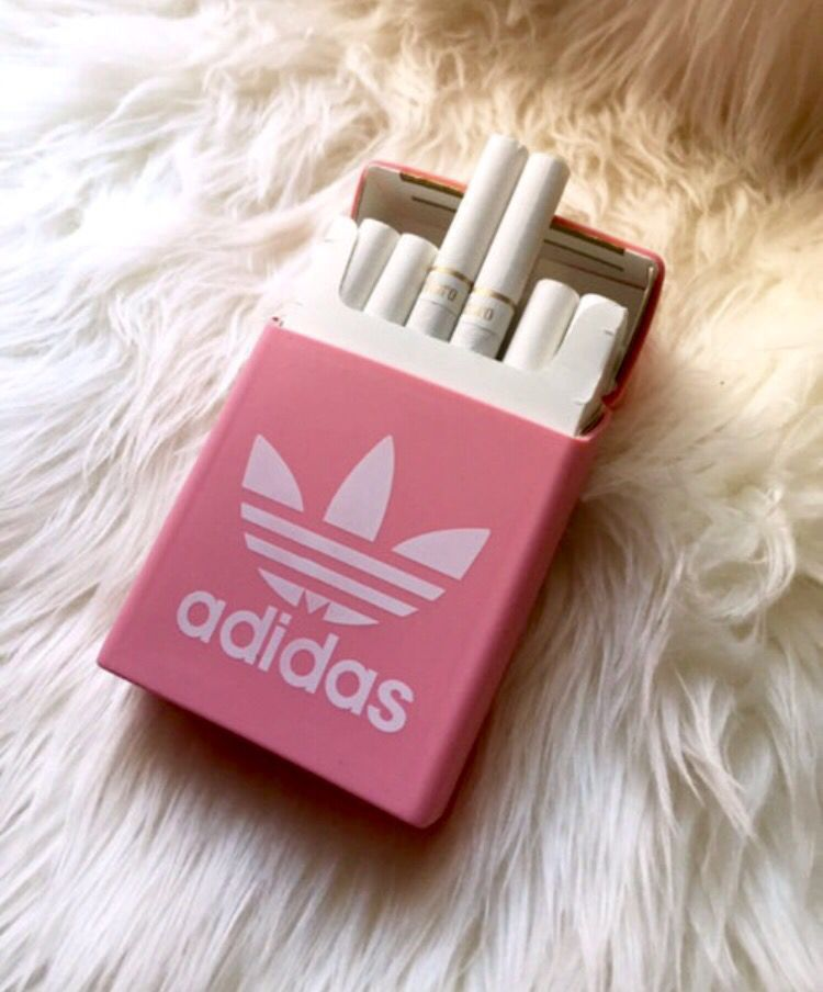 Adidas Pink And Cigarette Image