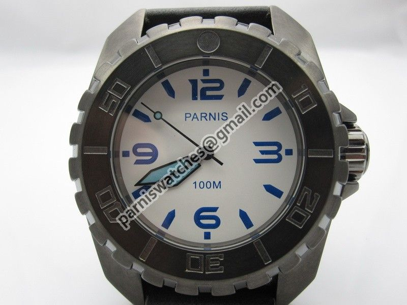Parnis 45mm PVD white dial luminous Submariner Mod - Automatic - Parnis watch station