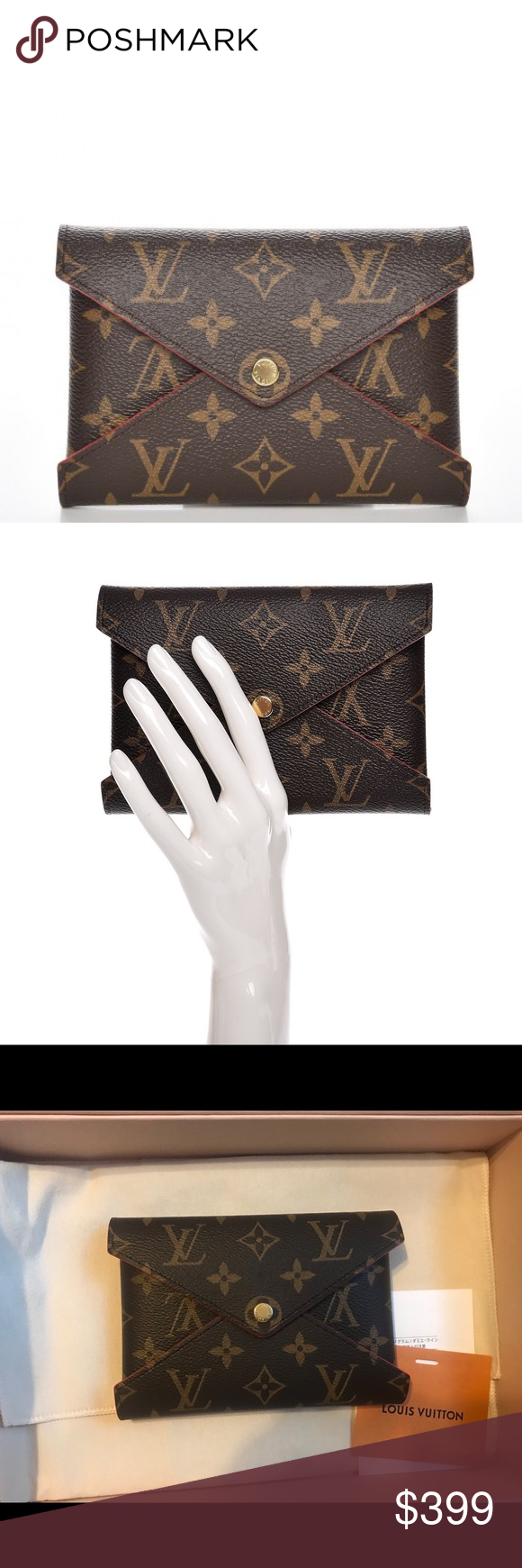 446f6717fe Authentic Louis Vuitton NEW medium kirigami Brand new. Never been used. -  Medium pouch for passport, cards or keys. - Appx Size: L6 x H4.5 x D0.1  inches ...