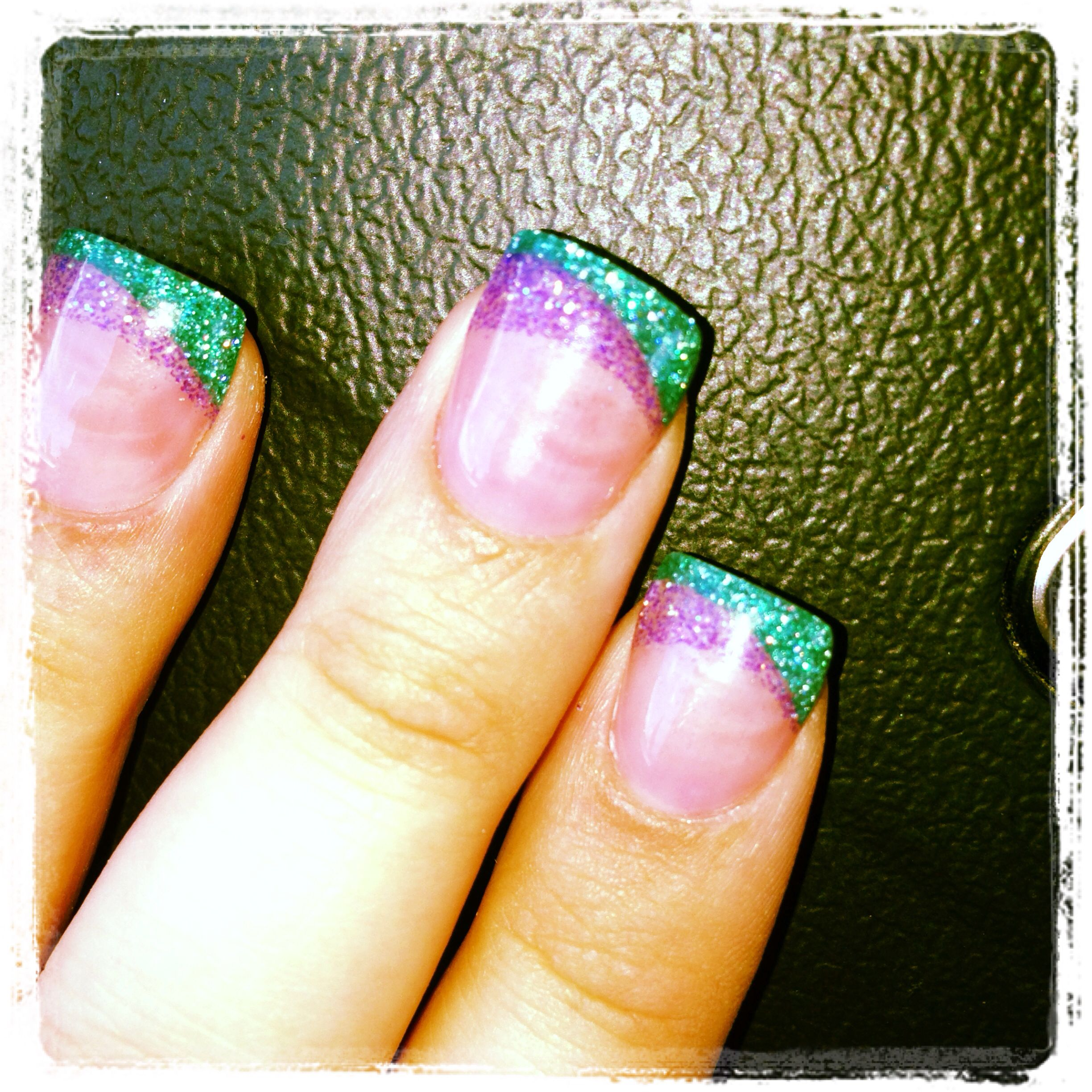 Teal and purple acrylic nails | nails | Pinterest | Purple acrylic ...
