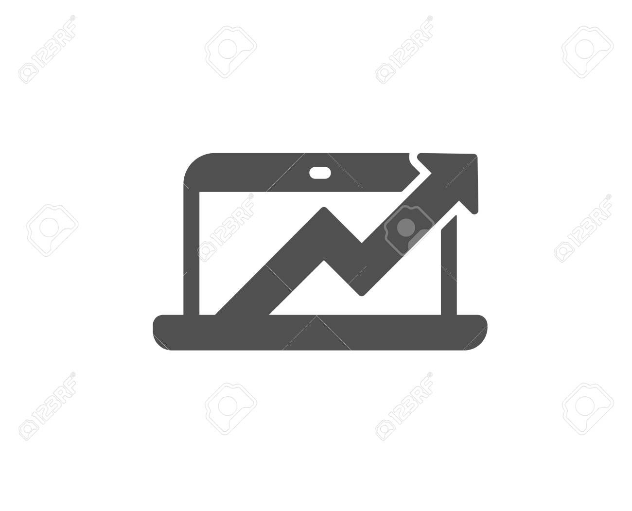 Data Analysis And Statistics Icon Report Graph Or Chart Sign