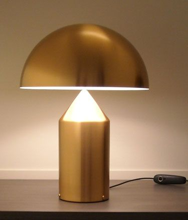 Vico Magistretti Oluce Atollo 233 Gold Table Lamp Gold Table Lamp Table Lamp Atollo Lamp