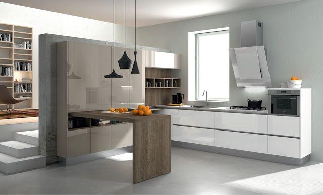 30 ideas de mesas y barras para comer en la cocina - Cocinas con - barras de cocina