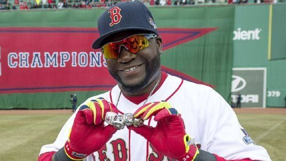 Big Papi showing off his BLING BLING!