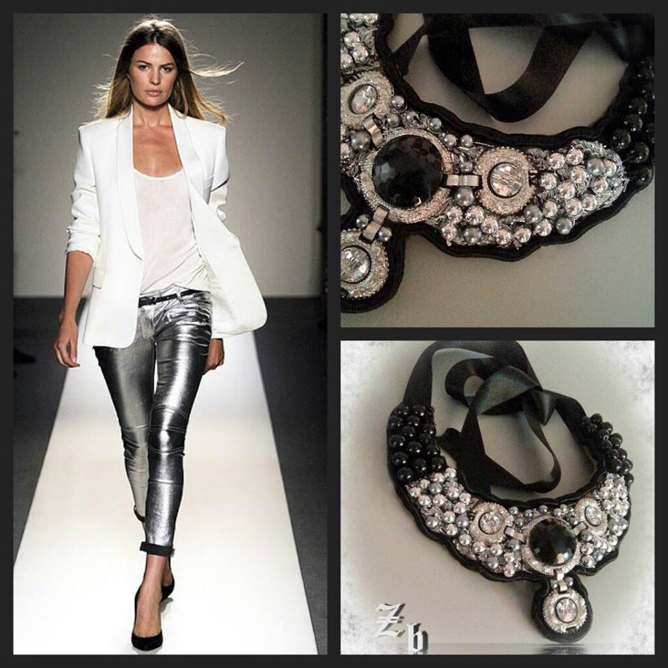 Black and silver z'ett bijou necklace
