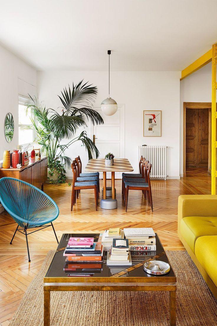 #interiorinspiration #inneneinrichtung #wohnzimmer | Eclectic | Pinterest |  Mid Century Chandelier, Mid Century Modern Design And Mid Century Modern