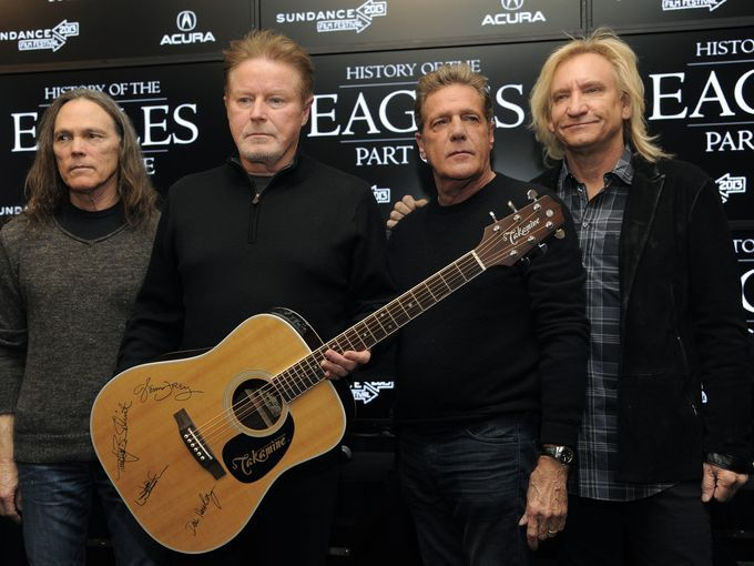 In this Jan. 19, 2013, photo, members of the Eagles,