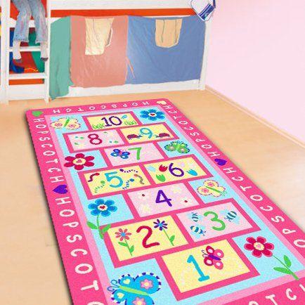 FADFAY Home Textile,Fashion Hopscotch Kids Carpet Bedroom,Sweet ...
