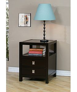 Apartment Living Norwich Two Drawer Side Table
