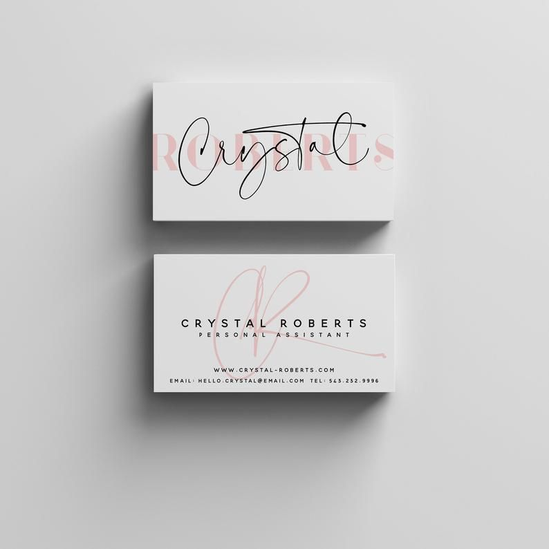 Business Card Template Instant Download Minimalist Business Cards Modern Chic Editable Business Card Design Printable Business Cards In 2021 Minimalist Business Cards Printable Business Cards Business Card Template