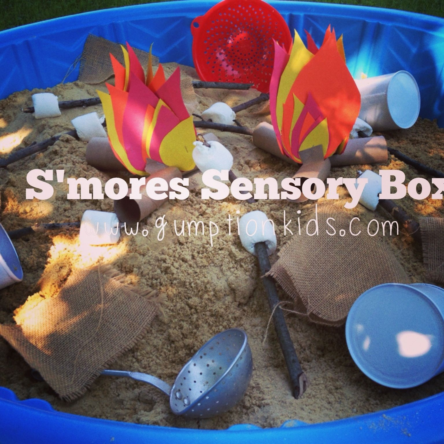 S Mores Sensory Box In Smartmp With Images