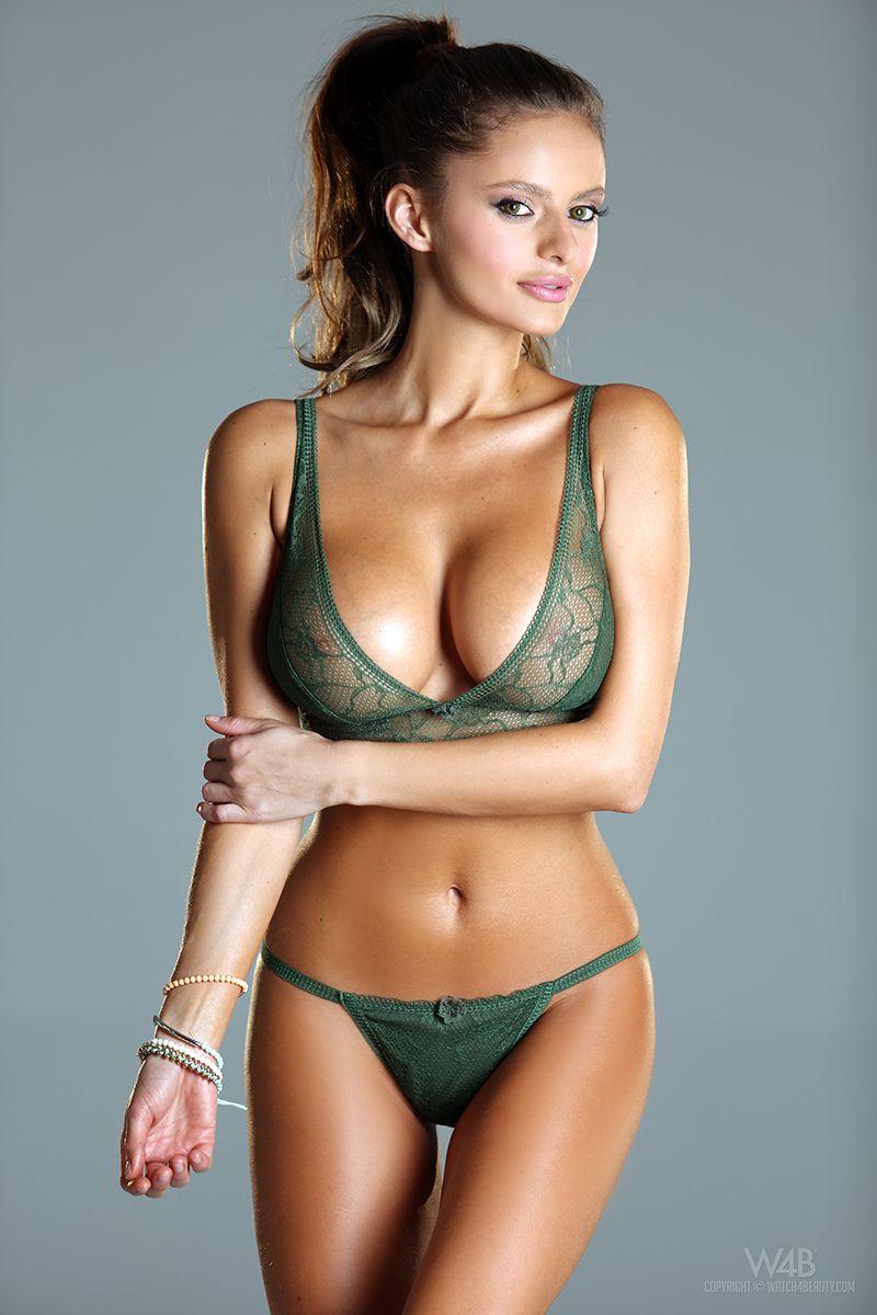Belinda sheer green lingerie