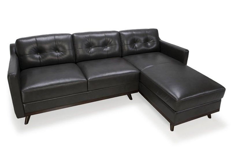 Moroni Monika Leather Sectional Sofa In Jet 35921 Sec