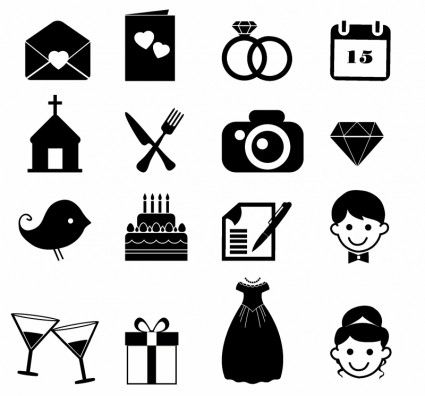free wedding icons # 9