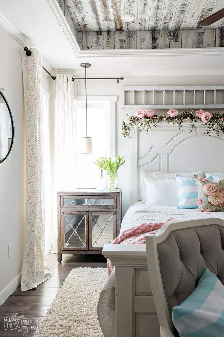 Twin loft bed craigslist  Rustic u Romantic Spring Bedroom Decor Tour  BRICK ROOMSBedroom