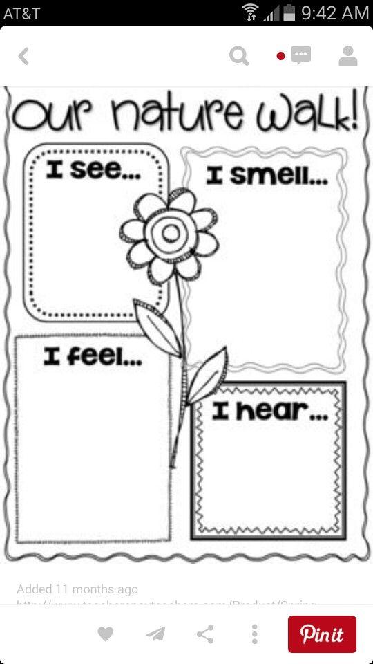 nature walk pixie hair style senses activities writing activities och teaching science. Black Bedroom Furniture Sets. Home Design Ideas