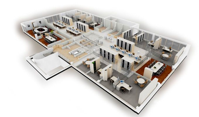 stylish office space planning with southwark and boon - 3d Office Floor Plan