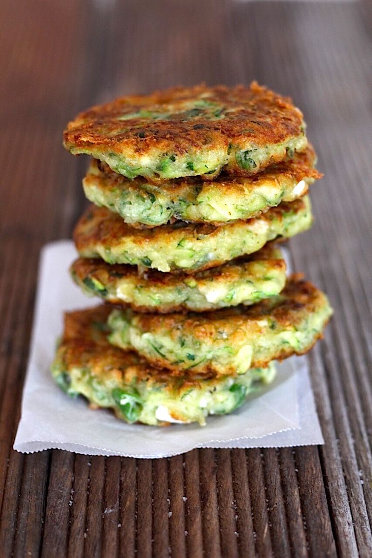 Greek Kolokithokeftedes Zucchini Feta And Herb Fritters Gluten Free