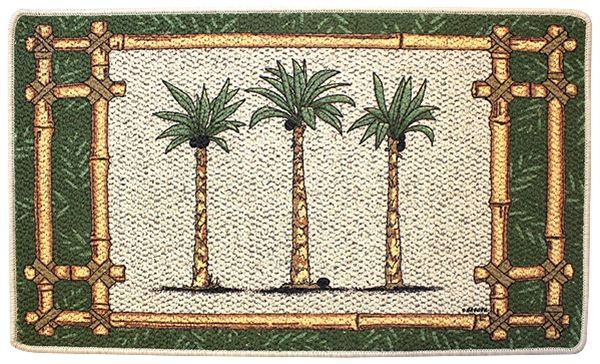 Beautiful Palm Tree Oasis Kitchen Rug Laundry Room Mat Tropical Palm Tree Decor