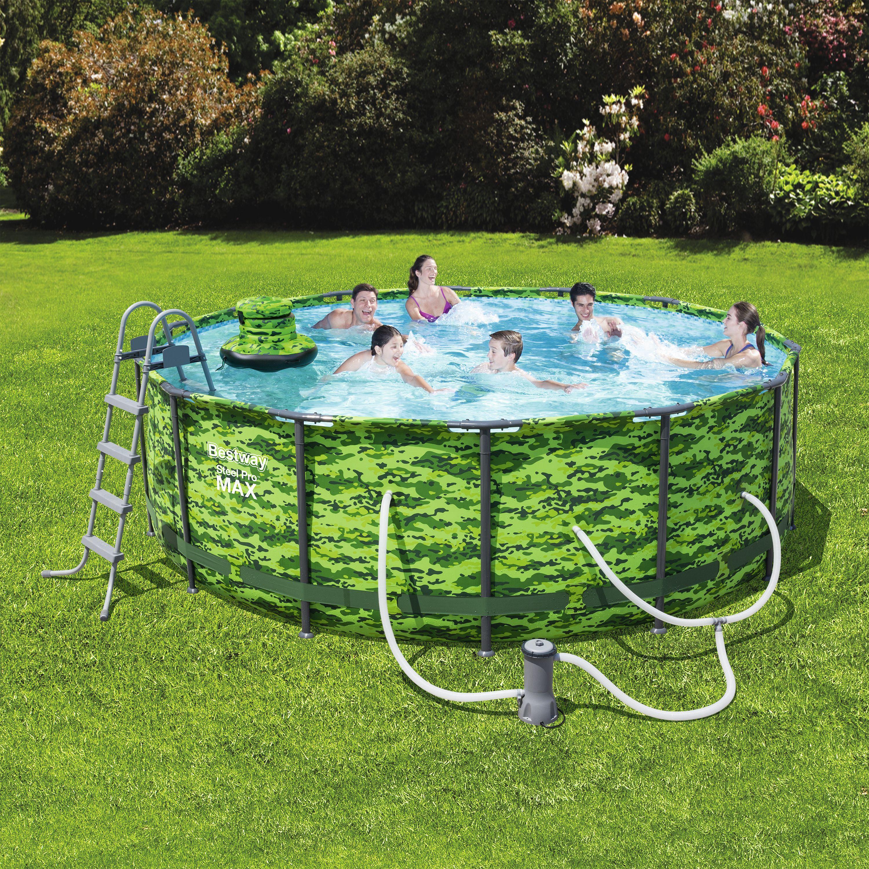 Bestway steel pro max camo 14 x 48 frame swimming pool